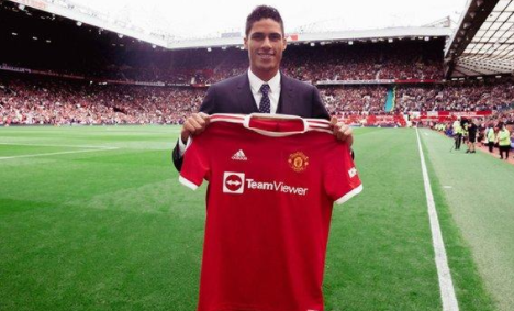 Manchester United completed the signing Varane