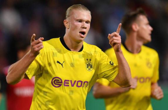 Haaland Dortmund beat Wehen 3-0